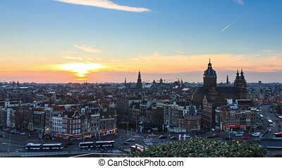 Amsterdam cityscape timelapse - Beautiful Full HD timelapse...