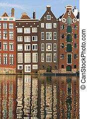 amsterdam, historyczny, domy