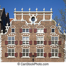 Amsterdam house - Facade of canal houses in Amsterdam, the...