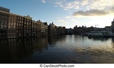 Amsterdam houses in Netherlands - Medieval houses in...