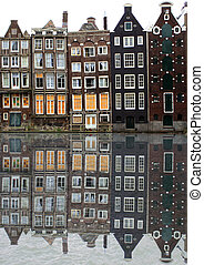 Amsterdam houses - houses along an Amsterdam canal