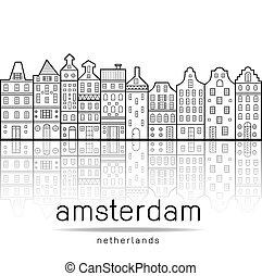 Amsterdam houses style landmark Netherlands