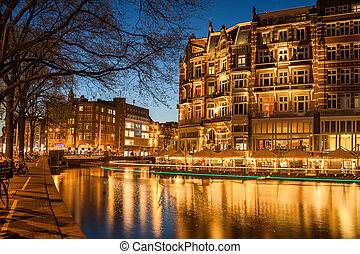 Amsterdam in Twilight
