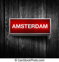 Amsterdam light display