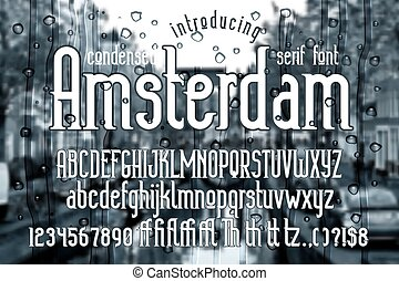 Amsterdam - modern display condensed serif font