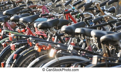 Amsterdam, Netherlands - April 21, 2019: Parking for...