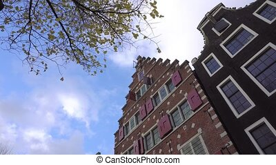 Typical Dutch Building - Amsterdam, Netherlands - November,...