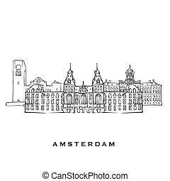 amsterdam, niederlande, architektur, berühmt