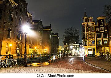 Amsterdam night street