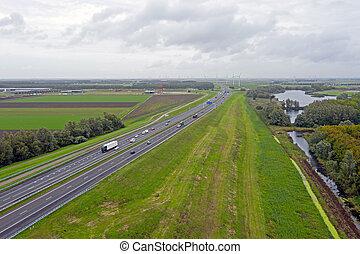 amsterdam, países bajos, a1, carretera