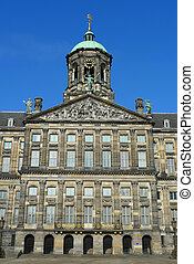 Amsterdam Royal Palace in Dam square, Amsterdam, Netherlands