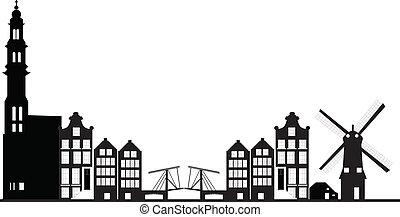 amsterdam, skyline