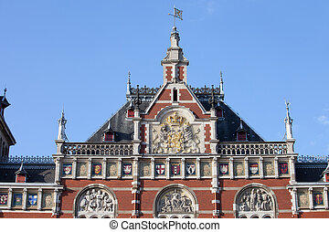 amsterdam, station, closeup, central, toit
