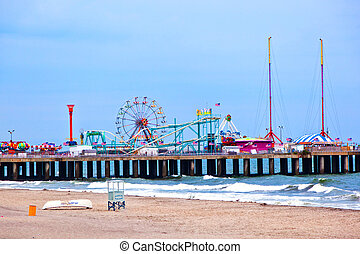Amuesment Park at Steel Pier Atlantic City, NJ - Amuesment...