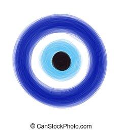 amulet., τούρκικος , χέρι , μετοχή του draw , eye., ρυθμός ,...