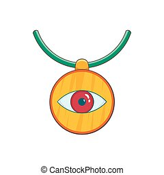 Amulet against the evil eye icon, cartoon style