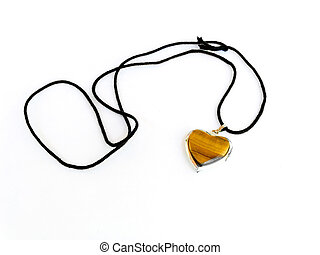 Amulet as heart on a black cord