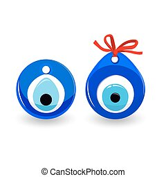 Amulet Evil Eye Isolated. Protective Talisman