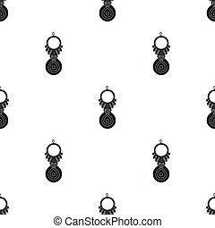 Amulet nazar icon in black style isolated on white...