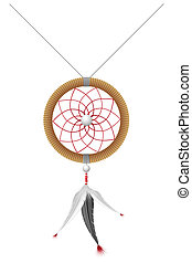 amulet of the american indians vector illustration