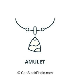 Amulet vector line icon, outline concept, linear sign