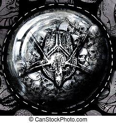 amulett, closeup