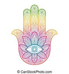 amulett, fatima, hamsa, hand