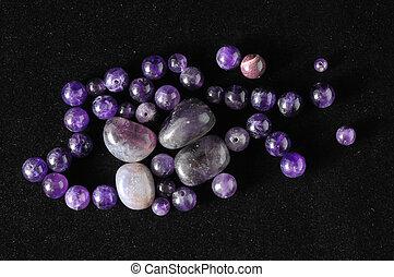 amulett, stein, amethyst