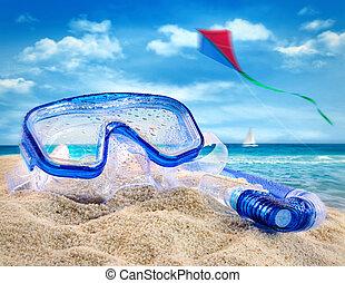 amusement, été, plage