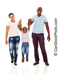 amusement, africaine, avoir, famille, jeune