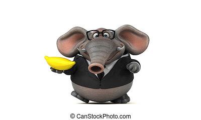 amusement, animation, -, éléphant, 3d