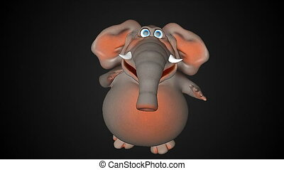 amusement, animation, cg, éléphant