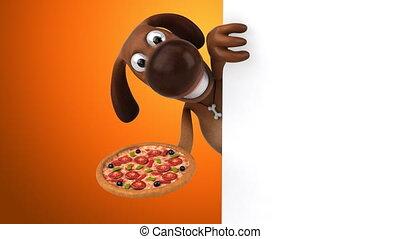 amusement, animation, -, chien, 3d