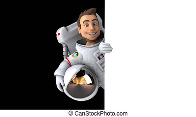 amusement, astronaute, animation, -, 4k