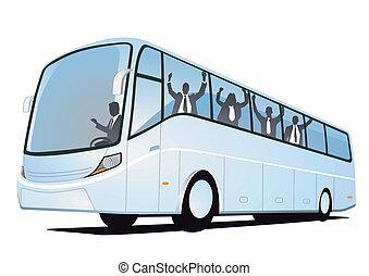 amusement, autobus