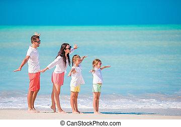 amusement, avoir, jeune famille, vacances