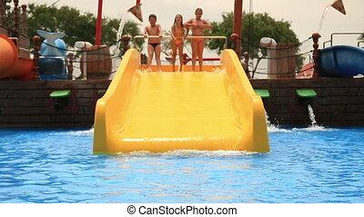 amusement, avoir, piscine, enfant