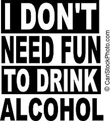 amusement, besoin, boisson, alcool, pas