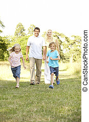 amusement, campagne, avoir, famille