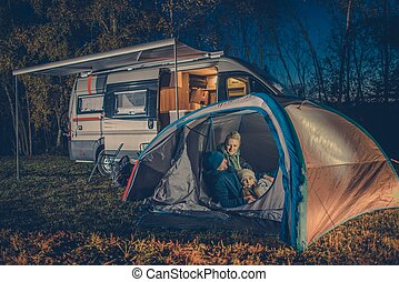 amusement, camping famille