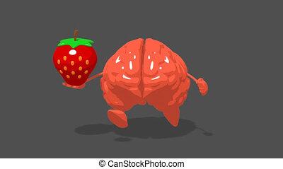 amusement, cerveau, informatique, -, animation