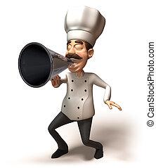 amusement, chef cuistot