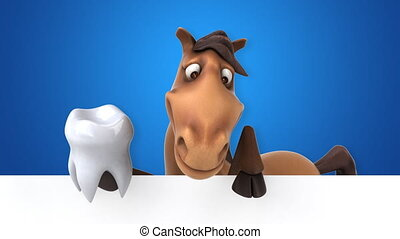 amusement, cheval, animation, -, 3d