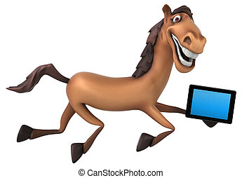 amusement, cheval
