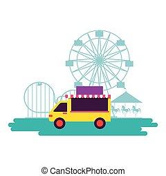 amusement, cirque, foire, carnaval