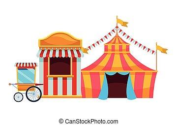 amusement, cirque, parc, amusement