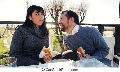 amusement, couple, amour, avoir