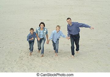 amusement, courant, famille