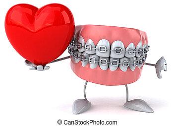 amusement, dents