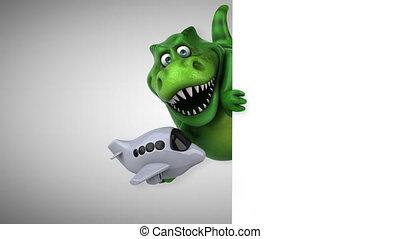 amusement, dinosaure, animation, -, 3d